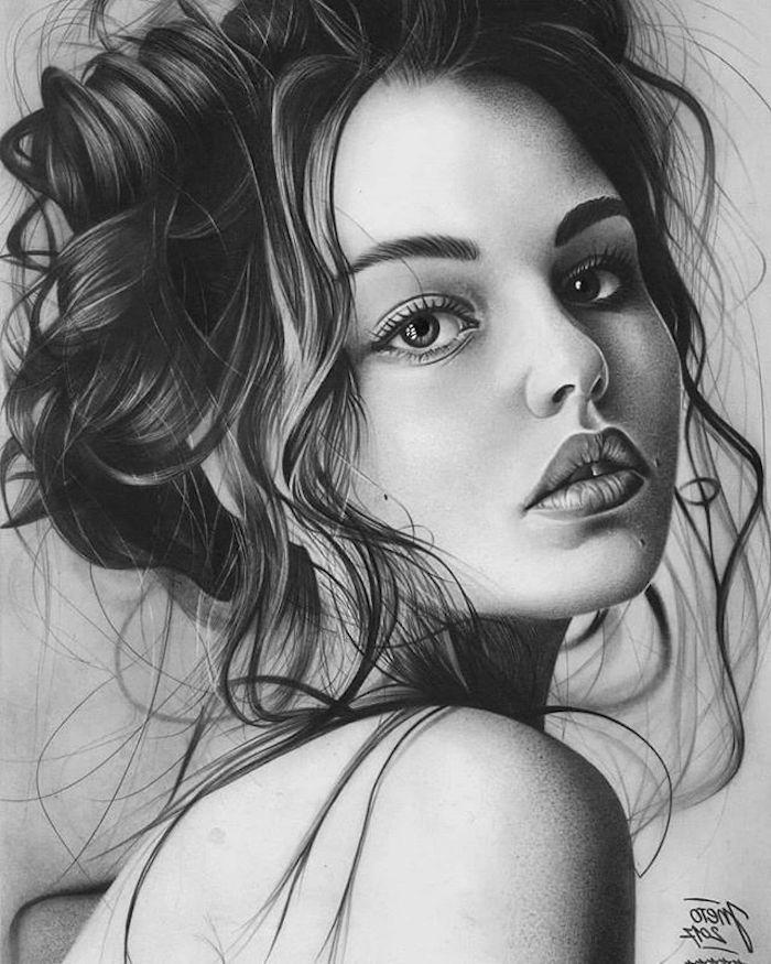 fenomenales ideas de dibujos en estilo realista, fotos de dibujos chulos y faciles de hacer, ideas de dibujos originales