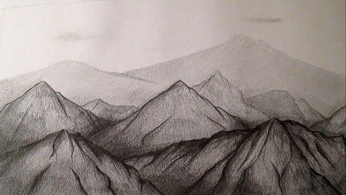 ideas de dibujos a lapiz cumbres de montaña fotos de dibujos en blanco y negro ideas para redibujar