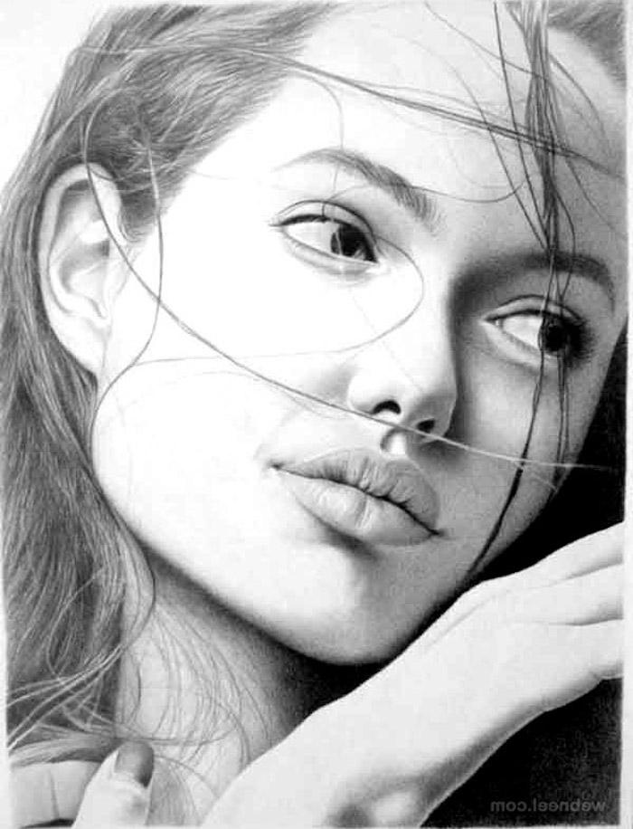 bonitas ideas de dibujos de celebridades, ideas de dibujos chulos para avanzados, como dibujar la cara de una mujer