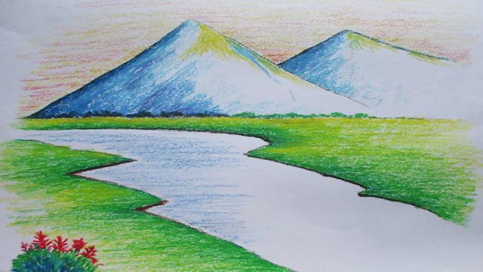 montañas rio ideas de dibujos de paiajes paisajes dibujos a lapiz fotos de paisajes faciles de hacer en colores