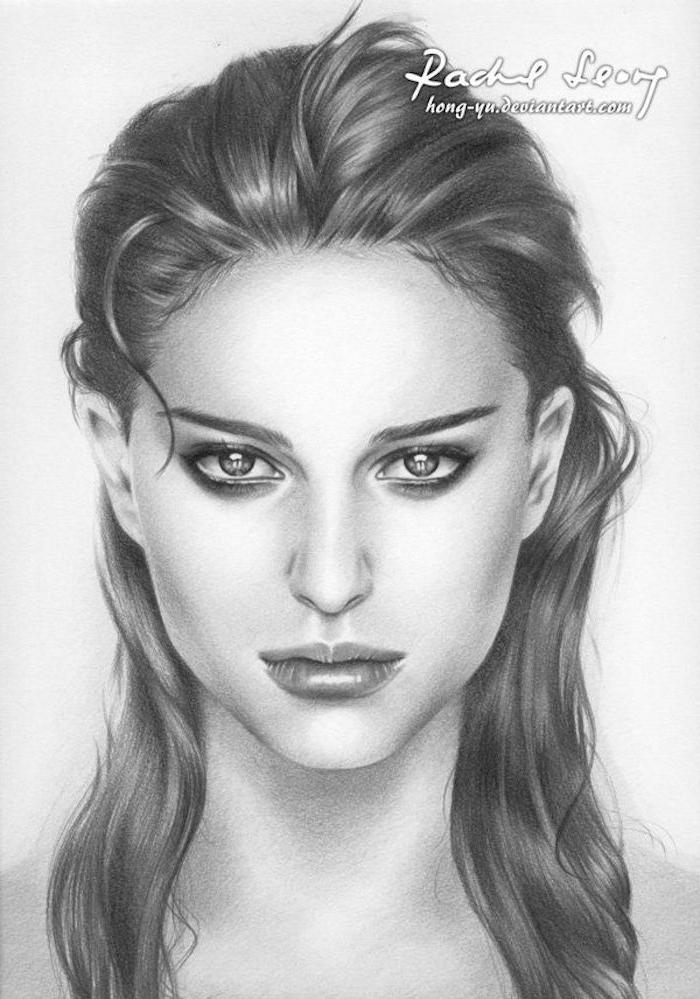 como dibujar la cara de una persona, dibujos a lapiz faciles para principiantes, fotos de dibujos de personas con mucha profundidad