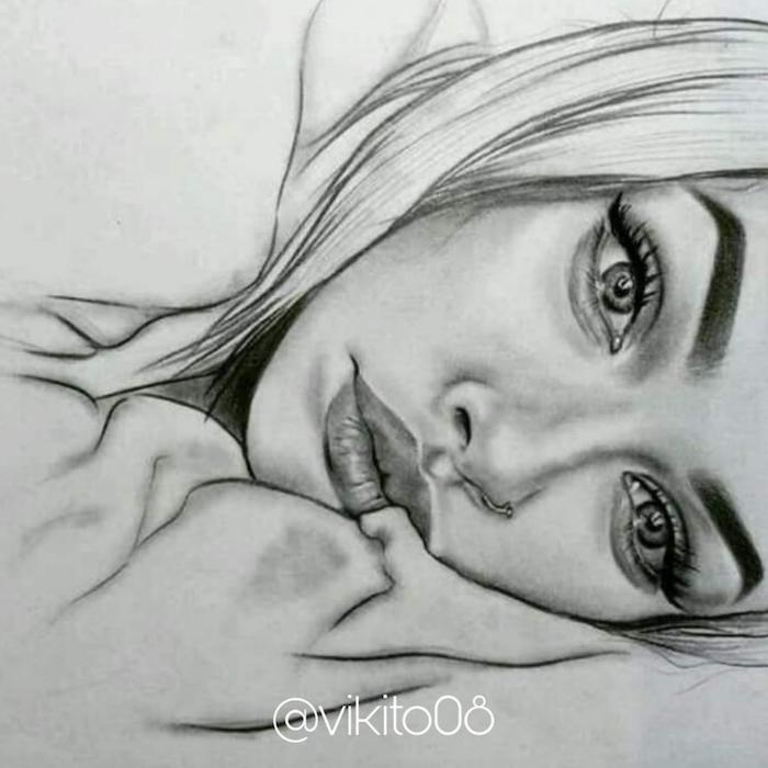 ideas de dibujos de mujeres que enamoran, como dibujar una mirada, dibujos boca, dibujos a lapiz faciles para principiantes