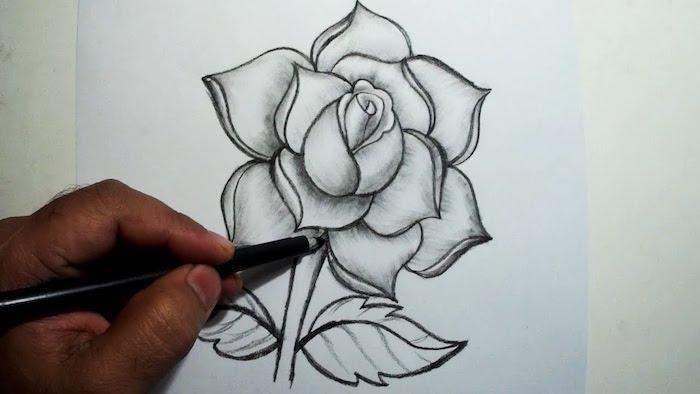 pasos para dibujar una rosa ideas de dibujos en blanco y negro chulos fotos de dibujos originales