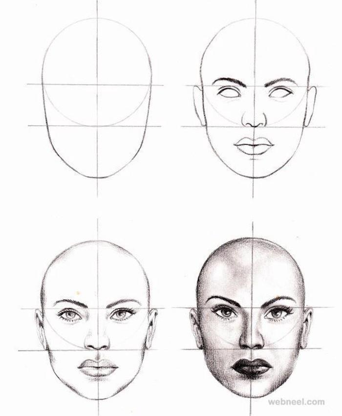 pasos para dibujar la cara de una mujer, como dibujar un rostro paso a paso, tutoriales de dibujos, cara de perfil, cara niño dibujo, dibujo cara mujer