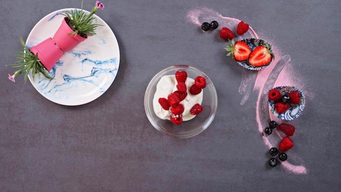 recetas faciles para el verano con helado casero skyr frambuesas frescas como hacer recetas de postres saludables