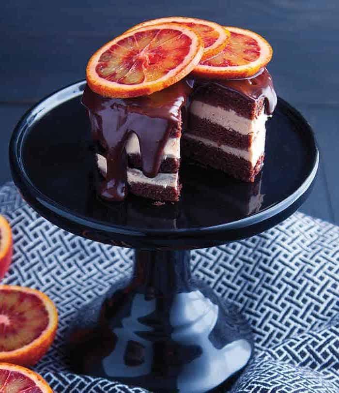 tarta de helado con chocolate y naranjas ideas de helados caseros saudables helado de chocolate