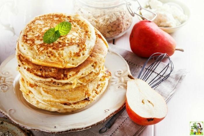 tortitas de platano y avena, desayuno sanos y equilibrados, como hacer tortitas caseras, como hacer tortitas caseras para perder peso