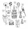 0 adorables propuestas de dibujos pequeños detalles de cumpleaños pastel de cumpleaños globos regalos sobre con tarjeta de felicitacion