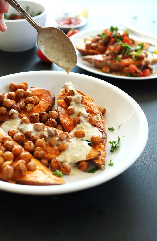 0 batata mediterraneo al horno recetas apetitosas y ligeras de platos saludables garbanzos recetas con batata