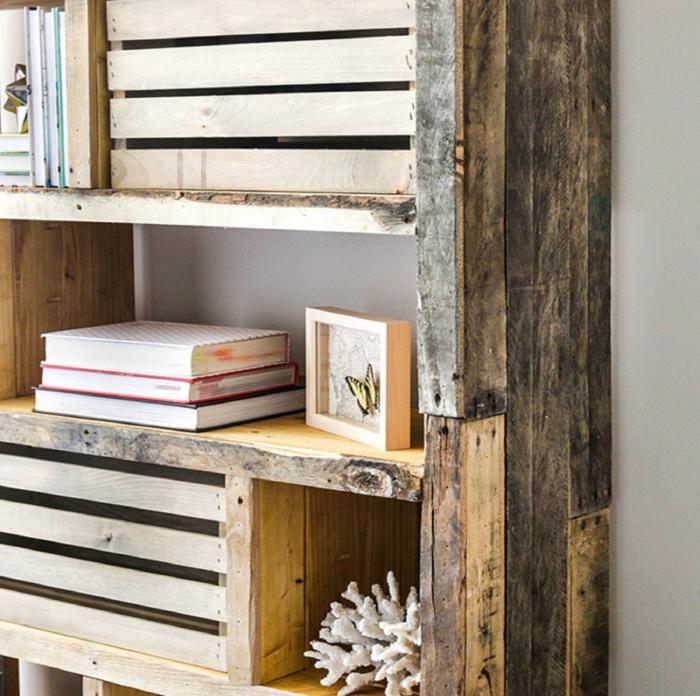 0 las mejores ideas sobre como hacer estantes de palets con libros fotos de estanterias chulas y faciles de hacer de madera