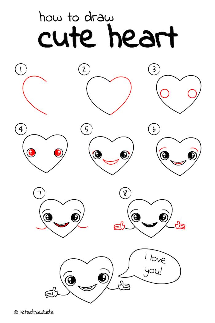 1 dibujar un te quiero corazon paso a paso tutotiales de dibujos dibujos para colorear de amor ideas de dibujos