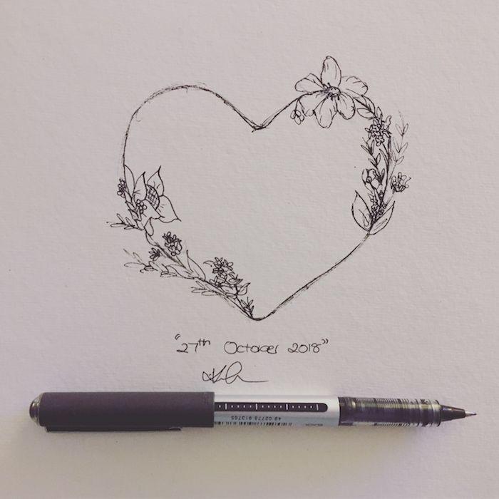 2 corazon fenomenales ideas de dibujos de cosas romanticas pequeños detalles flores dibujos para colorear de amor