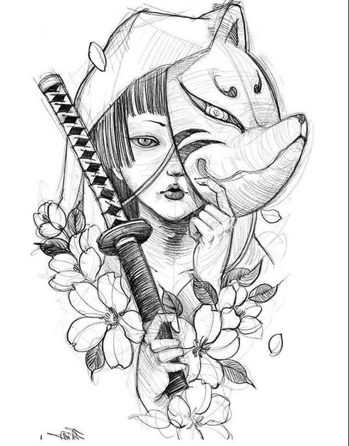 2 geniales ideas de dibujos en blanco y negro en estilo japones dibujos bonitos y faciles de hacer