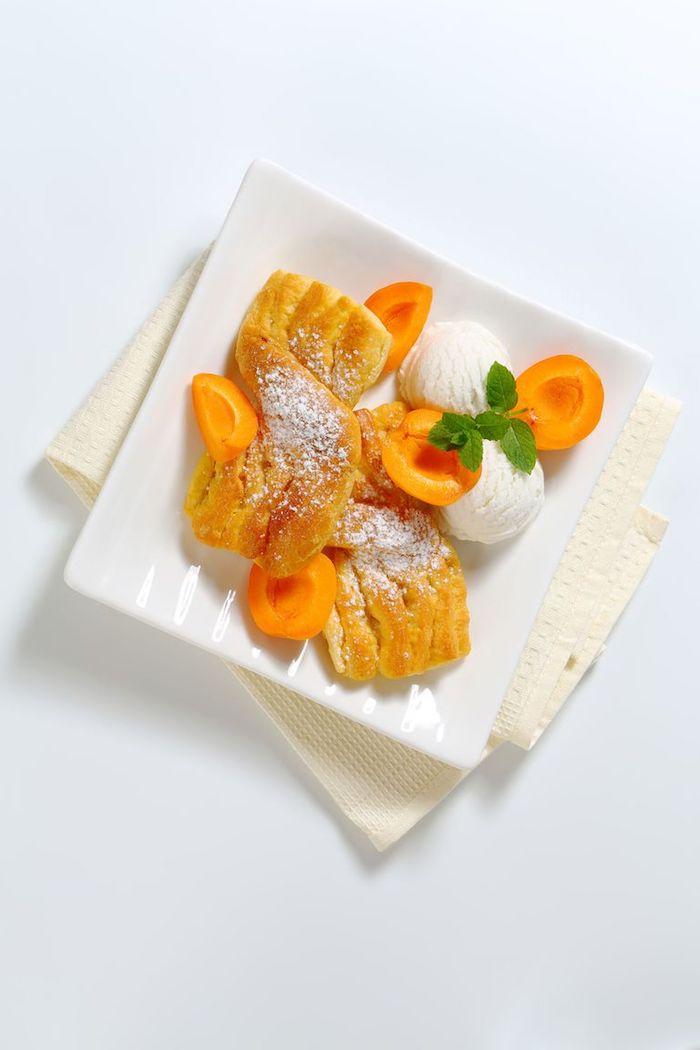 a preparar postres ligeros con frutas helado de vainilla melocotones ideas de postres sorbet de frutas