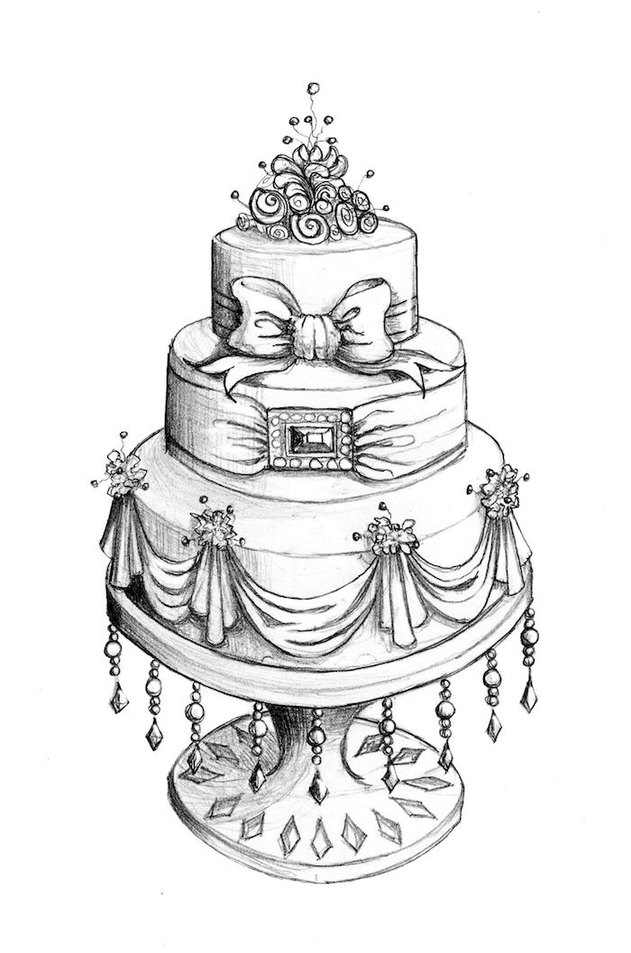 adorable dibujo tarta tres capas ideas de dibujos chulos en blanco y negro fotos de dibujos encantadores