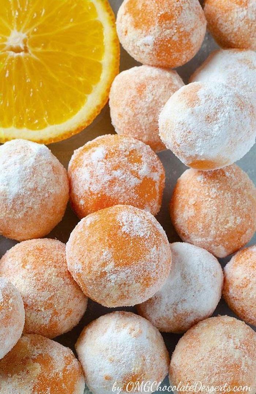 adorables ideas de postres faciles de hacer trufas con choclate blanco naranja ideas de postres