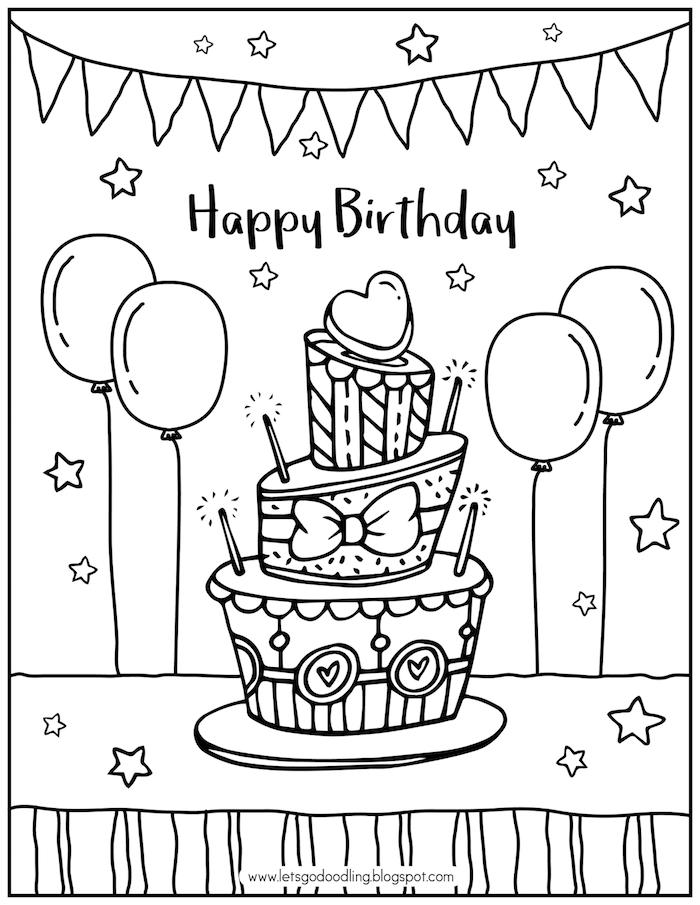adorables propuestas de dibujos de cumpleaños para colorear aprender a dibujar dibujos para pequeños y adultos