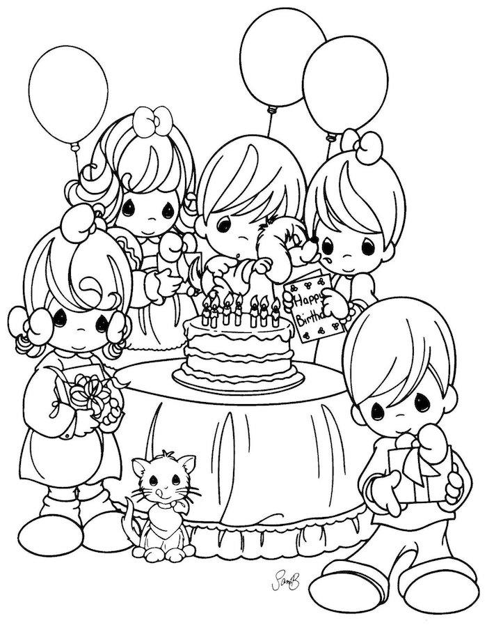 adorables propuestas de dibujos de cumpleaños para pequeños y adultos fotos de dibujos faciles de hacer ideas de dibujos en blanco y negro