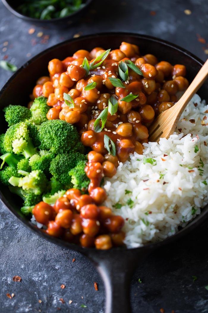 arroz blanco brocoli garbanzos recetas de arroz con garbanzos ideas de recetas exoticas fotos de recetas