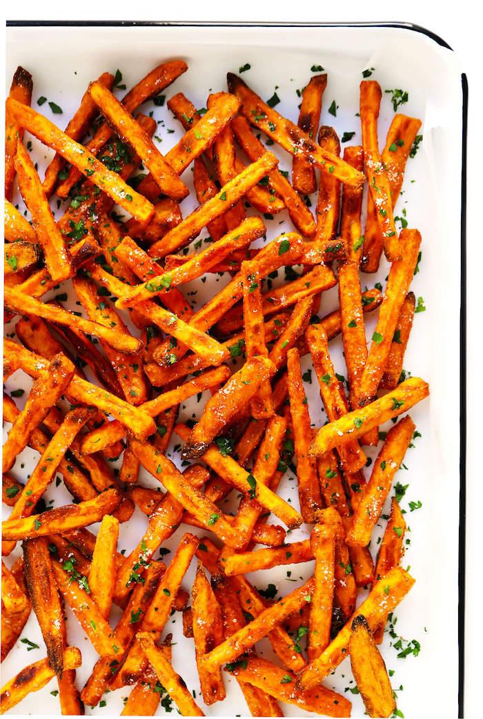 batatas fritas ricas y faciles de hacer cilantro especias ideas de recetas con batatarecetas con batata