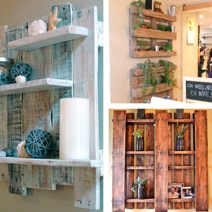 bonitas ideas de muebles con palets tres ejemplos de estantes de palets faciles y rapidos ideas con palets