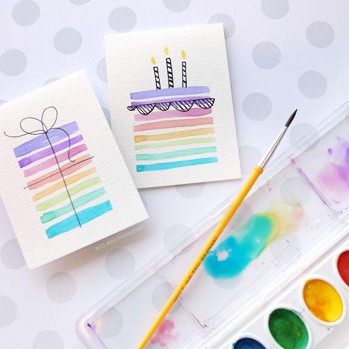 bonito dibujo de tarta con pinturas ideas de tarjetas de cumpleaños super faciles de en bonitos colores ideas de dibujos chulos