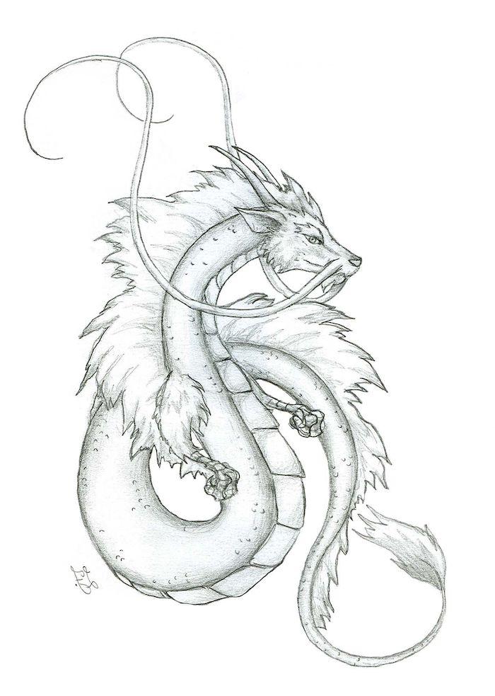 bonito dibujo=dragon simbolos dibujos chulos ideas de dibujos en blanco y negro
