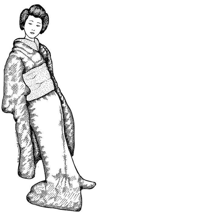 bonitos ejemplos arte japones ideas de dibujos chulos de geishas fotos de dibujos