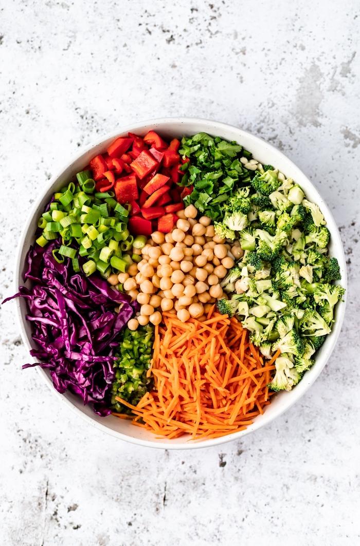 brocoli zanahorias ideas de recetas de garbanzos con verduras fotos de platos con veggetales saludables