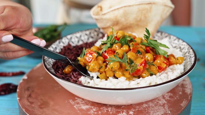 cocido con curry y garbanzos ideas de recetas vegetarianas faciles y rapidas ideas de cenas saludables