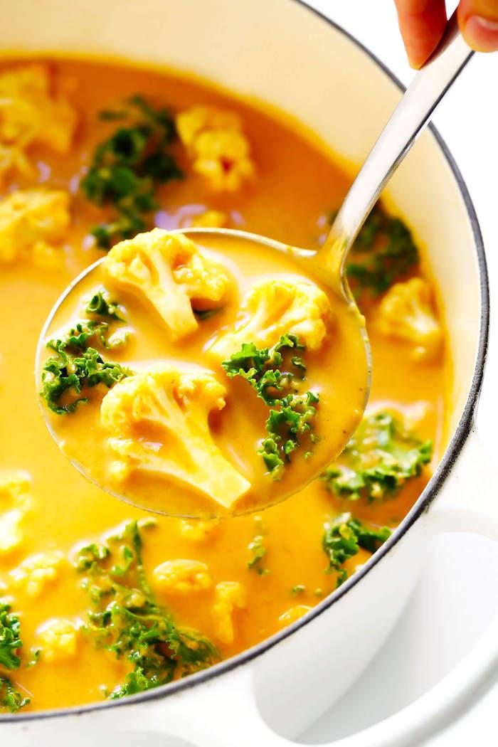 coliflor al curry sopa con cliflor lechuga ideas de platos saludables y ricos recetas vegetarianas