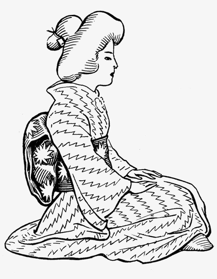 como dibujar una geisha paso a paso ideas de dibujos para dibujar a lapiz fotos de dibujos originales blanco negro