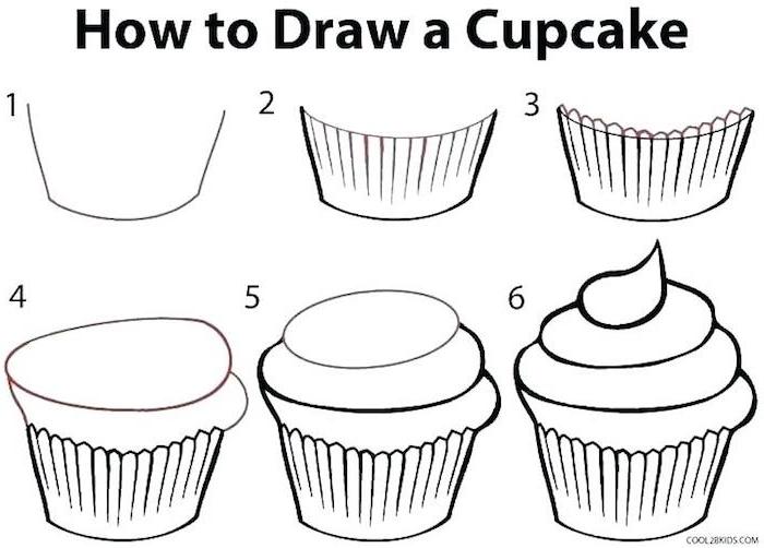 como dibujar una magdalena paso a paso ideas de dibujos chulos y faciles de hacer dibujo en blanco y negro