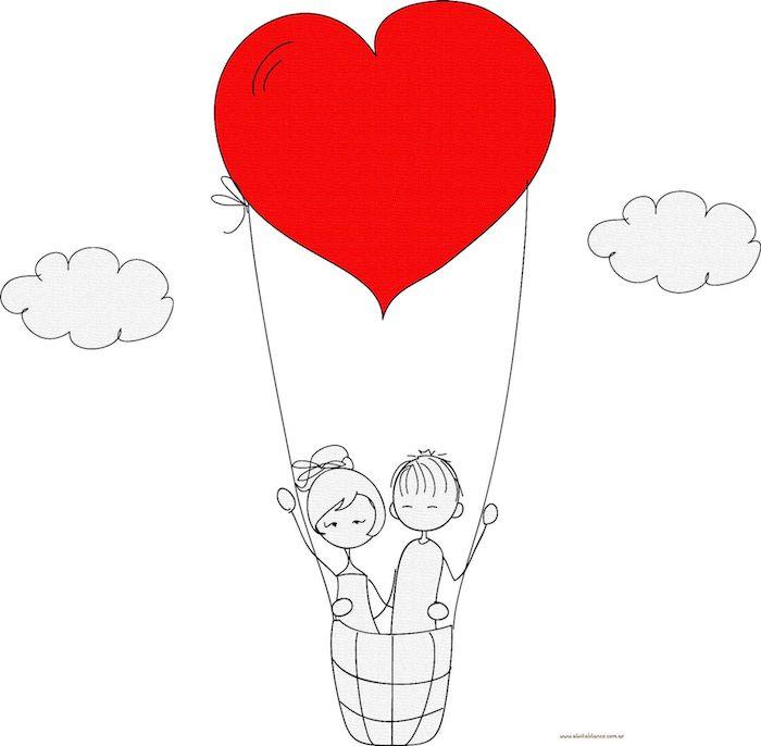 corazon rojo dibujos enamorados fotos de dibujos chulos pareja enamorada