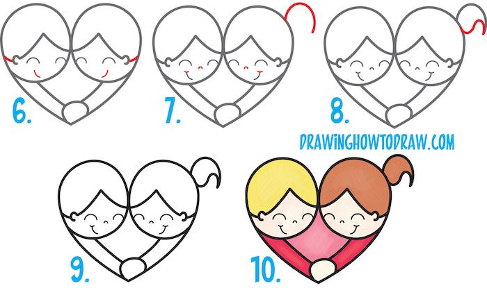 corazones pareja ideas lindas de dibujos faciles de hacer paso a paso tutoriales de dibujos