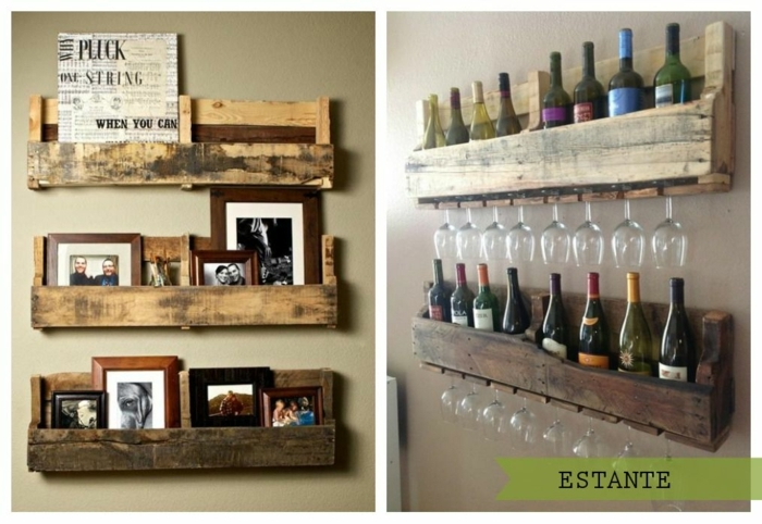 decoracion con palets super chula ideas de muebles con palets faciles y rapidos estantes para guardar botellas de vino