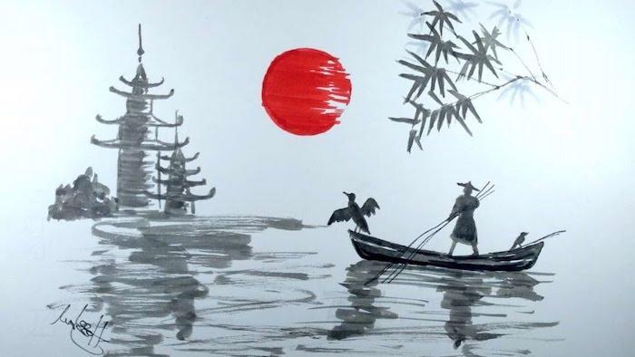 dibujo blanco nero sol castillos estilo japones sl dibujos japoneses antiguos