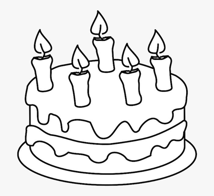 dibujo tarta de cumpleaños dibujos cumpleaños faciles y chulos ideas de dibujos para colorear