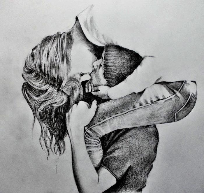 dibujos chulos pareja besandose originales ideas de dibujos de amor dibujos a carboncillo ideas de dibujos