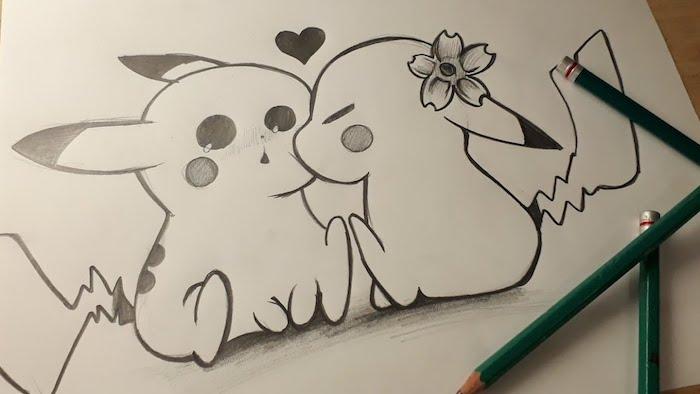 dibujos de amor kawaii beso picashu dibujos pokemon ideas de dibujos chulos y faciles de hacer