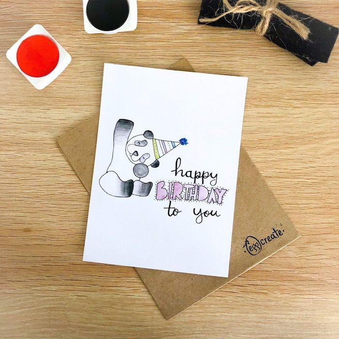 dibujos de cumpleaños para niños dibujos en blanco y negro faciles y bonitos panda dibujo letras