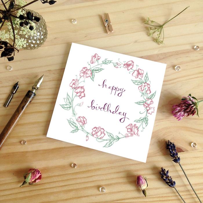 dibujos de feliz cumpleaños chulos con motivos florales aprender a dibujar paso a paso fotos de dibujso