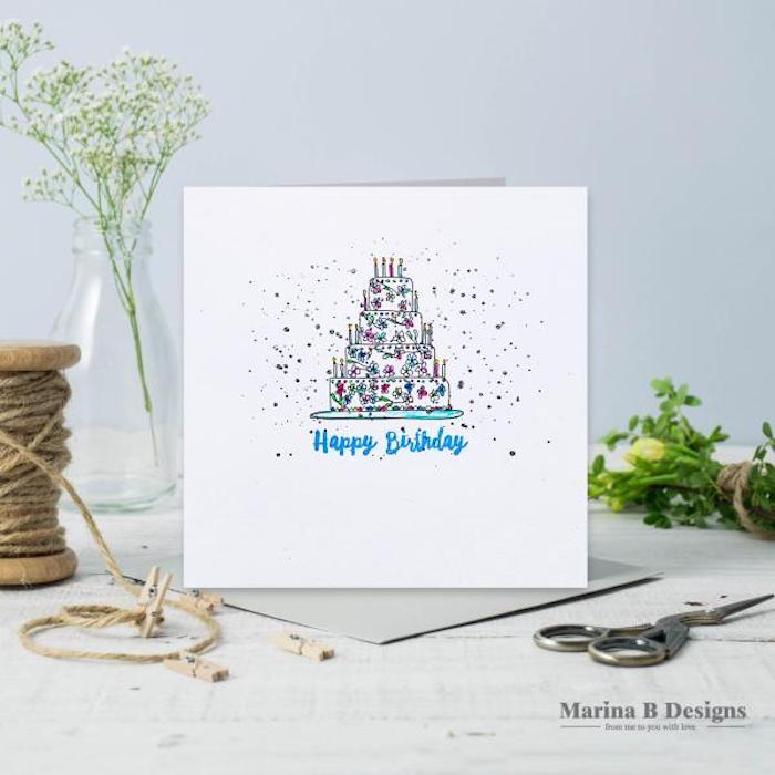 dibujos de feliz cumpleaños tarta colorida confetti ideas de dibujos faciles de hacer en bonitos colores fotos de dibujos