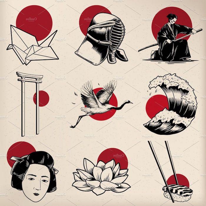 dibujos en blanco negro y rojo chulos dibujos japoneses antiguos foto de dibujos originales y bonitos