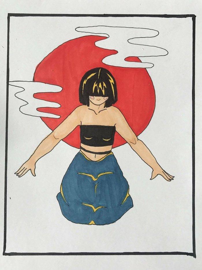 dibujos en colorres fotos de dibujos japoneses originales ideas de dibujos faciles