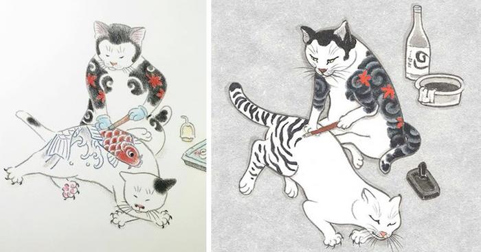 dibujos japoneses chulos ideas de dibujos en bonitos colores fotos de dibujos con gatos aprender a dibujar