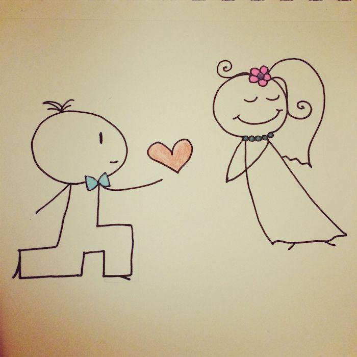 dibujos para colorear de amor dibujos sencillos hombre arodillado mujer compromiso corazon
