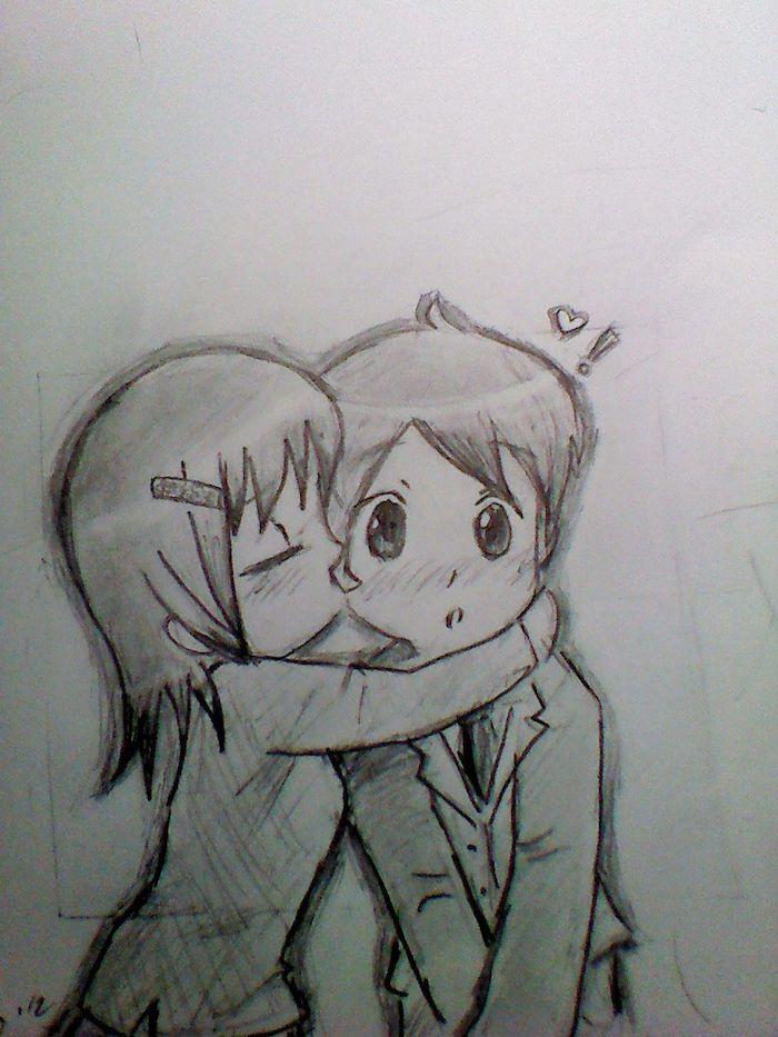 dibujos romanticos de parejas besandose dibujos de amor kawaii ideas de dibujos chulos y faciles de hacer