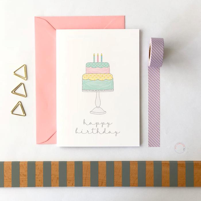 dibujosde feliz cumpleaños chulos ideas de dibujos en colores pastel tartas de cumpelaños para dibujar