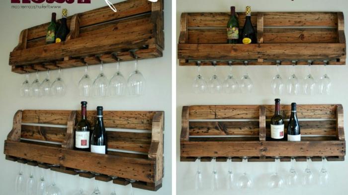 donde guardar las botellas de vino estanteria de madera de materiales reciclados como hacer una estanteria